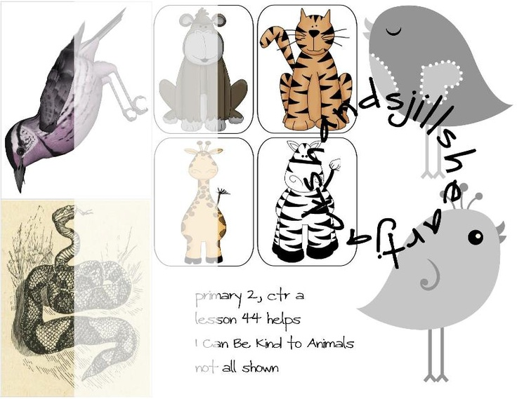 Lesson 44 Primary 2 Choose the Right, I can be kind to animals, FHE: Choose The Right, Animal