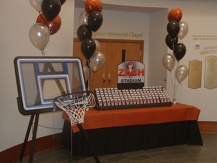 Basketball Themed Table Decorations | Basketball Theme | Ideas Fiestas |  Pinterest | Bar Mitzvah, Sport Theme Parties And Basketball Party