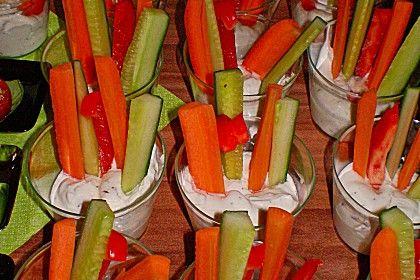 Kräuterdip mit Gemüsesticks (Rezept mit Bild) von schnurzel82   Chefkoch.de