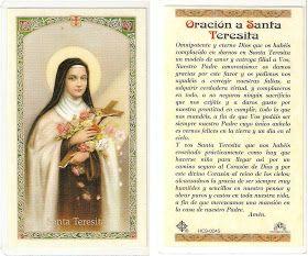 Biografía de Santa Teresita Portadas para Facebook de Santa Teresita Frases de Santa Teresita del Niño Jesús Oraciones a Santa Tere...