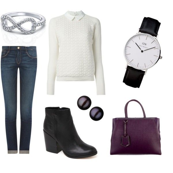 Casual Friday by innooka on Polyvore featuring moda, Tory Burch, Frame Denim, Dolce Vita, Fendi and Links of London