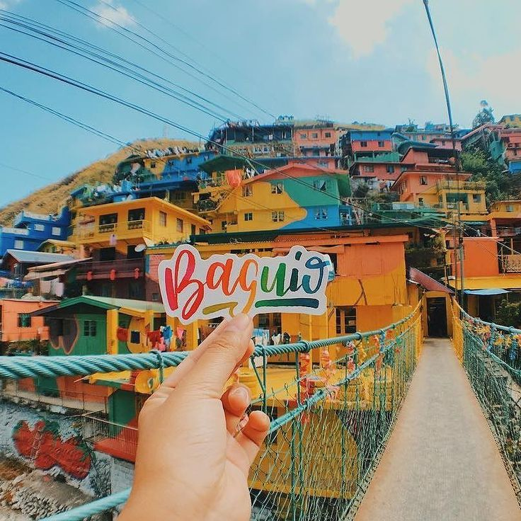 """Baguio"" Artist: @idolkockata Location: Valley of Colors Philippines  #calligrascape #calligraphy #wanderlust #baguio #calligraphyph #philippines"