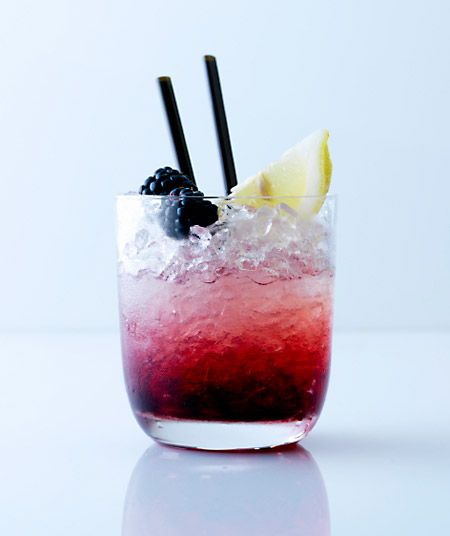 Today's Feature:   The Blackberry Bramble    You'll Need:	1½ oz gin  1 lime (juiced and as garnish)  6 blackberries  1½ oz simple syrup  4 - 6 oz tonic water  A muddler  A rocks glass  A cocktail shaker or mixing glass  Crushed ice