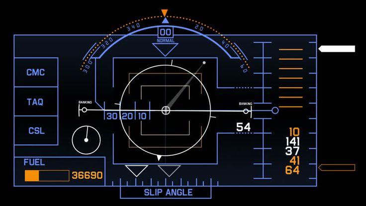 4k Radar GPS signal tech screen display,future science sci-fi data computer game navigation dashboard technology interface background. 4556_4k - 4K stock video clip