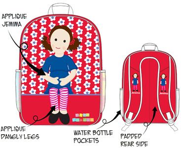 Play School - Jemima Backpack. Get ready for a big day out with your very own Jemima backpack! $19.99