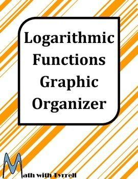 Are you teaching logarithmic functions?  Save yourself some time with this graphic organizer.  Great for interactive notebooks!