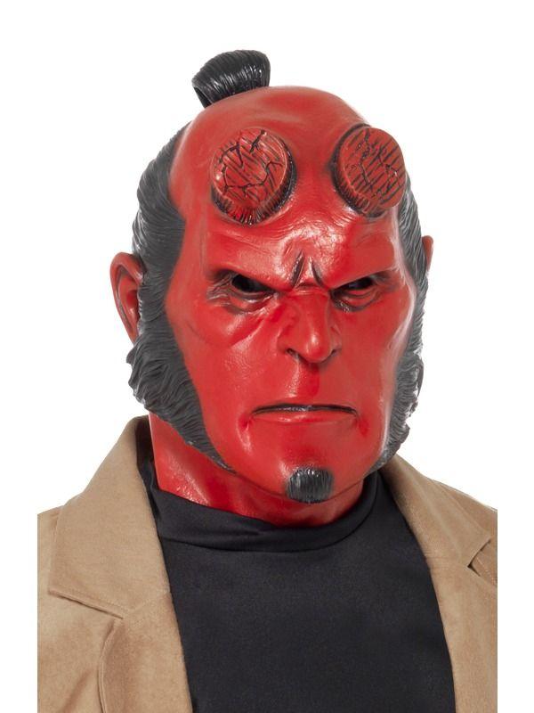 Hellboy Mask, Latex, Full Overhead