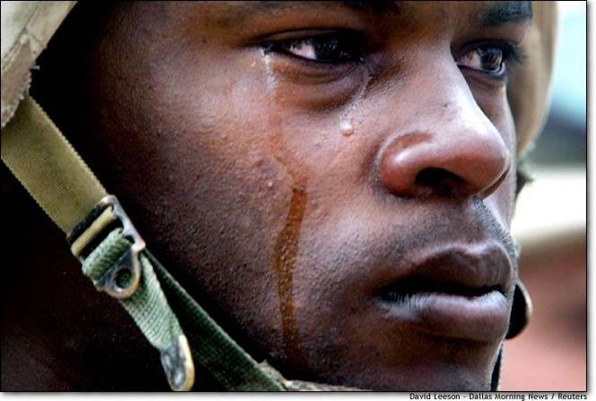 David leeson, en la guerra de Irak. Es un foto periodista del The Dallas Morning News
