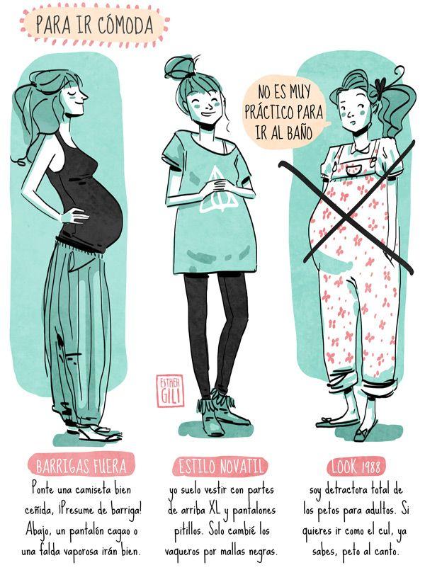 vestir embarazo. Me encantan las sugerencias que da!