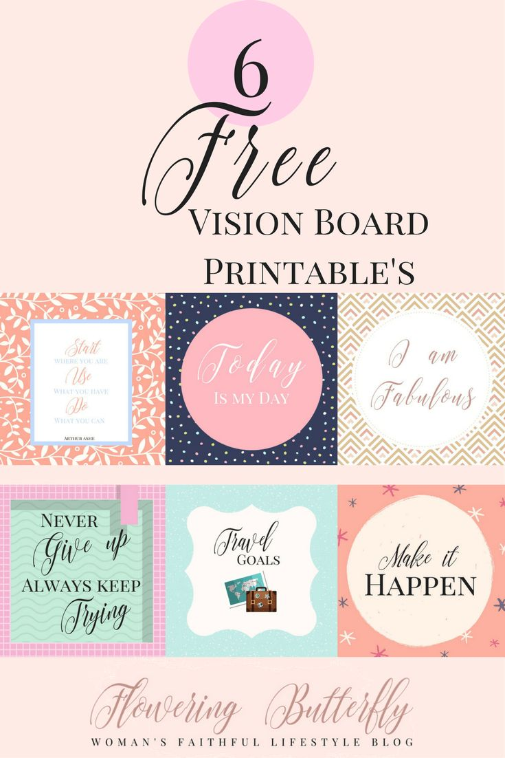 vision board printable u0026 39 s