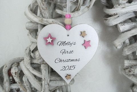 Personalised First Christmas Girl - Divine Shabby Chic