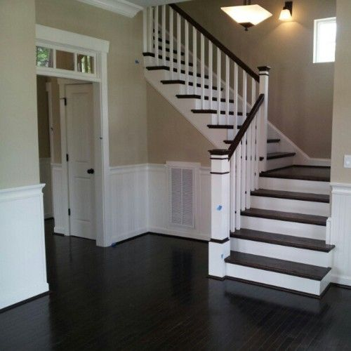 These Stairs Are Beautiful Love The Dark Wood With White
