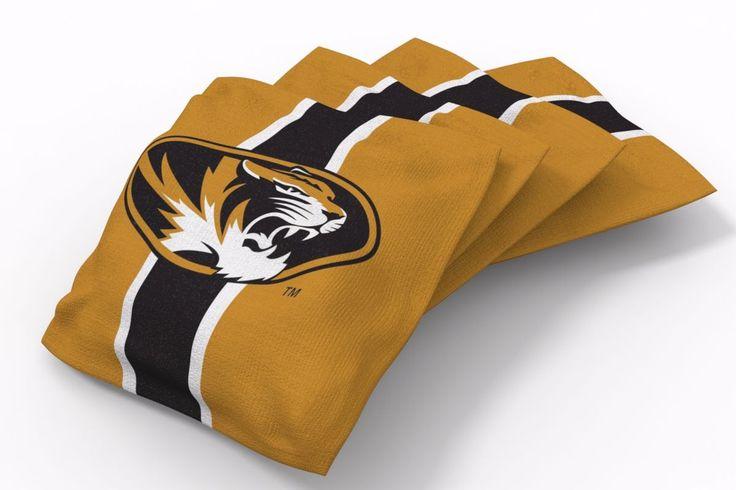 Missouri Tigers Stripe Bean Bags-4pk (B)