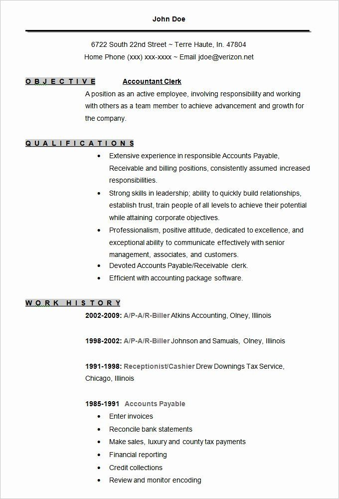 Plain Text Resume Example Luxury 61 Beautiful Gallery E Page Resume Format Doc Free Resume Samples Accountant Resume Free Resume Template Word