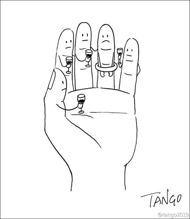 Прикольные рисунки иллюстратора Tango (43фото) » Картины, художники, фотографы на Nevsepic