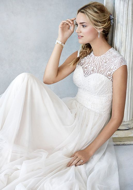3a6536ce85f9 Kenneth Winston  Ella Rosa Collection BE425 Wedding Dress - The Knot ...
