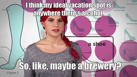 """The time she helped you pick out your next vacation spot: 