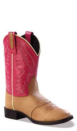 38546d50a7c Old West Hot Pink Childrens Girls Sandra Leather Ultra Flex Cowboy ...
