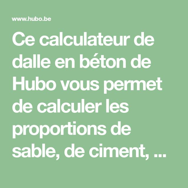 Fred Ressaire (fredressaire) on Pinterest - Calcul Dalle Beton Terrasse