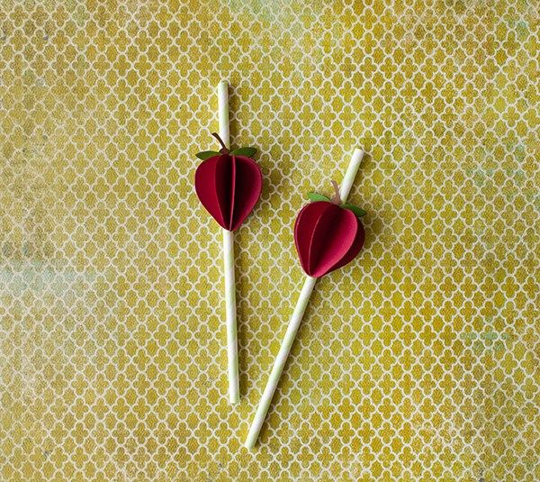Strawberry Social Paper Straw Toppers by Laura Richey. Make It Now with the Cricut Explore machine in Cricut Design Space.