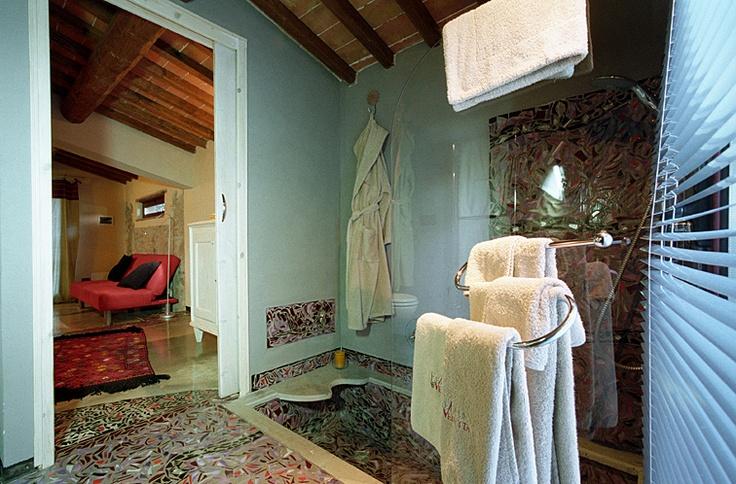 Bathroom of Deluxe Romantic Suite The Domitissa