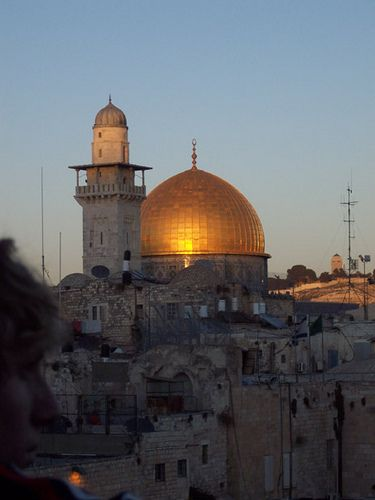the Dome of the Rock, Amazing! We got right up next to it.. glorious!