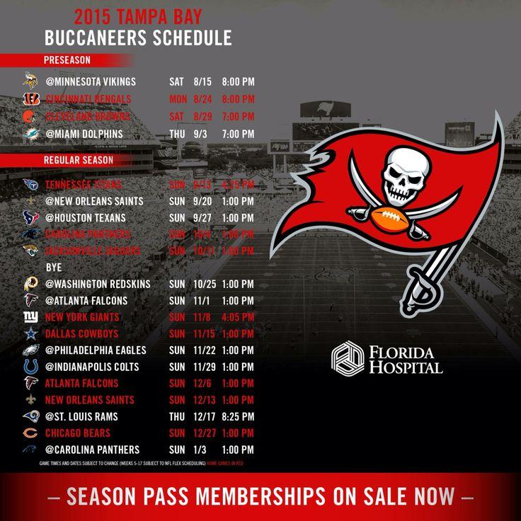 2015 Bucs Schedule!! Looking forward to new season!