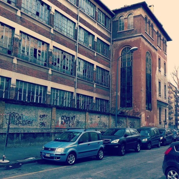 Former Borletti production plant in Milan (Italy), once a very important firm in the precision mechanics industry.