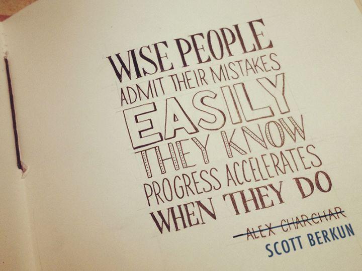 Handgeschreven typografie quotes van Sean McCabe
