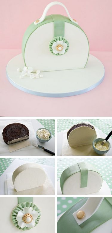 How to make a Purse Cake #purse #cake #tutorial http://thecakebar.tumblr.com/post/66714076427/how-to-make-a-purse-cake-click-link-for-full