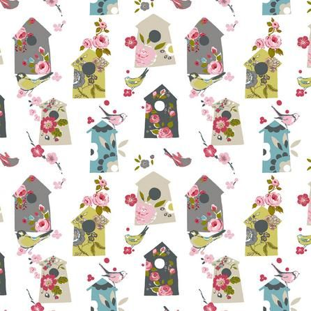 Floral Birdhouse Fabric Dunelm 163 8 99 Per Metre