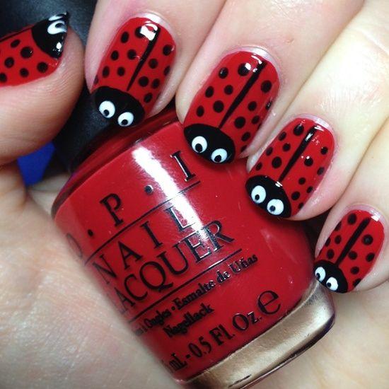 Animal print en rojo - Animal print red design nails