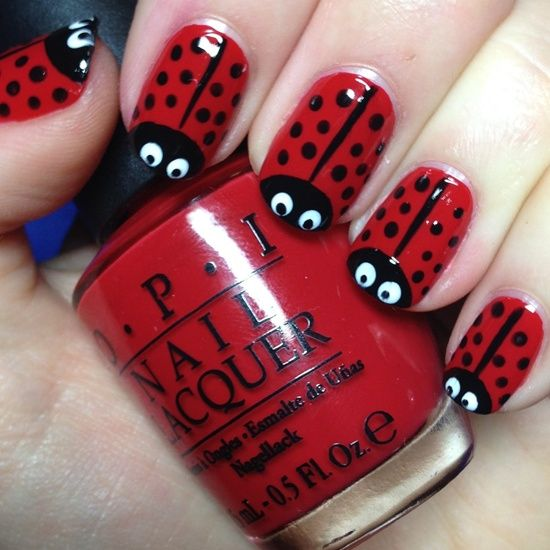 Animal print en rojo - Animal print red design nails