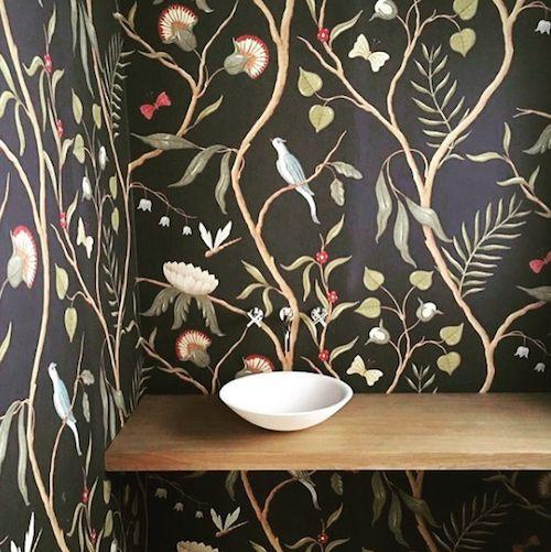 Attractive Cloakroom  Adamu0027s Eden Wide Width Wallpaper In Black (thereu0027s Also Adamu0027s  Eden