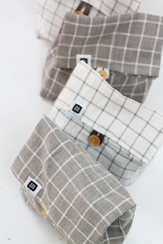 Reusable snack bags, zero waste reusable bags, zero waste lunch | Cloth sandwich and snack bags for a plastic-free home
