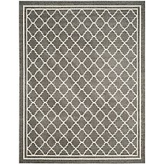 Amherst Dark Grey / Beige 9 Feet X 12 Feet Indoor/Outdoor Area Rug