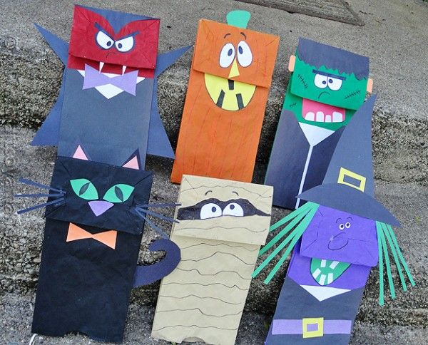 Hallowe'en paper bag puppets ~ something to try with the little ones