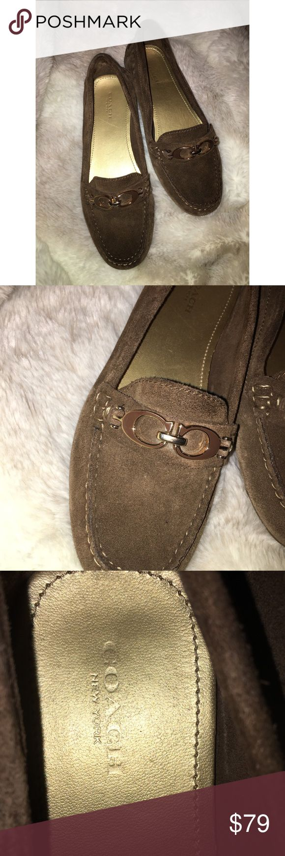 COACH Brown Suede Loafers COACH Brown Suede Loafers STILL LIKE NEW!! No Stains!  Gently Worn Around The House Luxurious Suede Hugs Your Feet Silky Soft Comfort!! SIZE 6.5 Coach Shoes Flats & Loafers