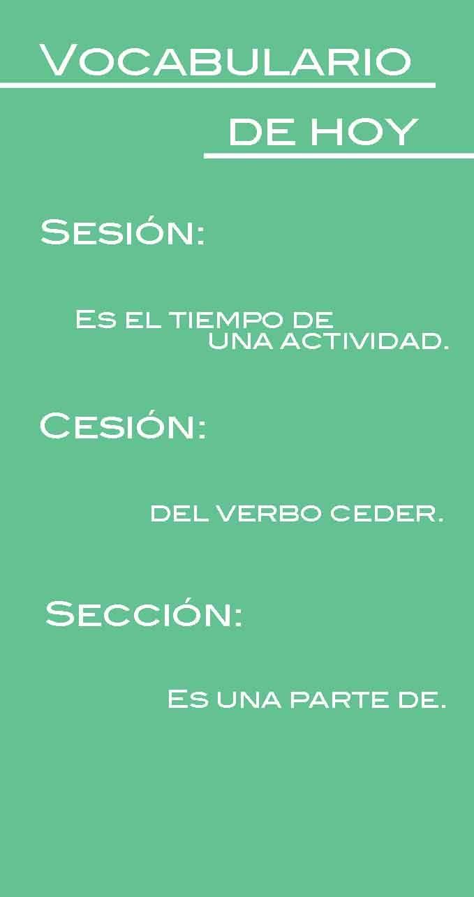 """Presta atención a las recomendaciones que te tenemos para el uso del lenguaje del día de hoy. Diferencia entre """"Sesión"""", """"Cesión"""" y """"Sección"""". #Tips #Vocabulario #Reglas #ComunicacionSocial"""