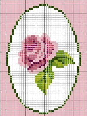 Rose perler bead pattern.