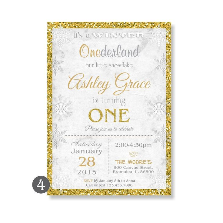 Winter Onederland Invitation, Winter Wonderland First Birthday, Snowflake Birthday Invite,Printable Winter Onederland Invitation Glitter 113 by 800Canvas on Etsy