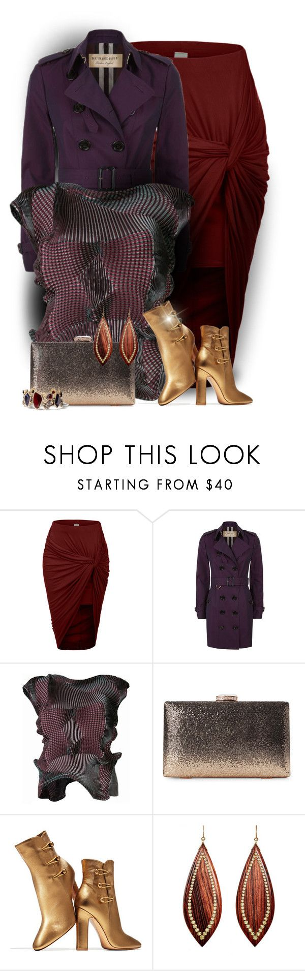 """""""It's A Wrap"""" by majezy ❤ liked on Polyvore featuring LE3NO, Burberry, Gianvito Rossi, Mark Davis and Chloe + Isabel"""