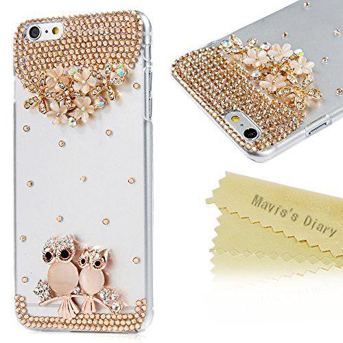 Buy iPhone 6 Plus 5.5'' Case - Mavis's Diary 3D Handmade Bling Crystal Owls Shiny Diamonds Cover Fas...for R220.00