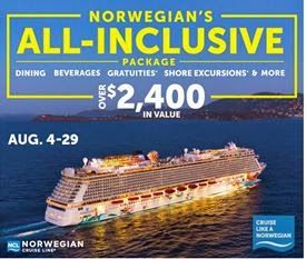Trips with Angie: Fantastic All Inclusive Package from Norwegian Cruise Lines for 2015 sailings! Book by August 29th