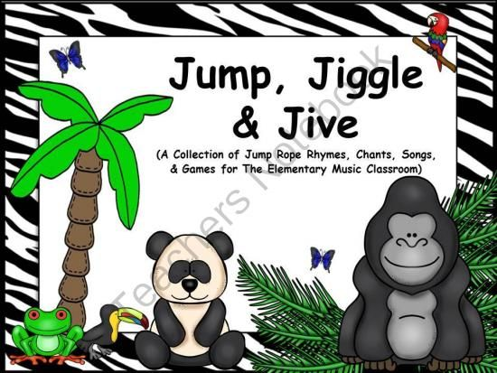 Cheers For Elementary Classrooms ~ Jump jiggle jive a collection of rope rhymes