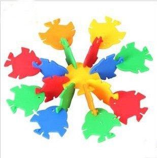 Детский сад Поставки Рыбы Ломтик Блоки Тропические Рыбы Блоки Настольных Сборка Снежинка Строительные Блоки Мешках Игрушка