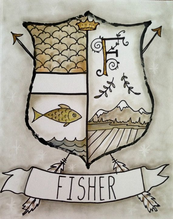 Custom Modern Coat of Arms Family Stone Heraldry Home ~~ Makes an Awesome Anniversary or Wedding Keepsakes Gift