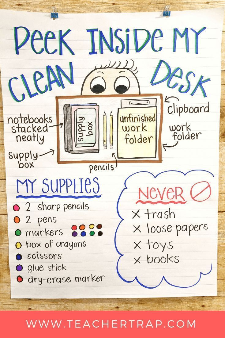 No More Messy Student Desks