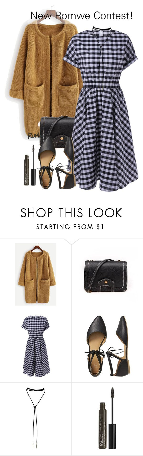 """""""New Romwe Contest in My Group!"""" by dora04 ❤ liked on Polyvore featuring Gap and NYX"""