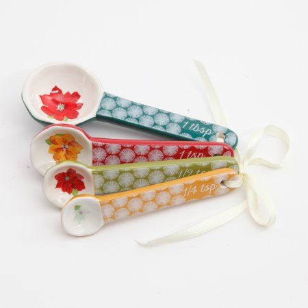 The Pioneer Woman Ceramic Measure Salad Platens Happiness, Multicolor